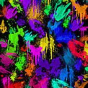 Splattered One Art Print