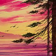 Splendid Sunset Bay Art Print