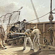 Splicing The Trans-atlantic Telegraph Cable After The First Accident On Board The Great Eastern Art Print