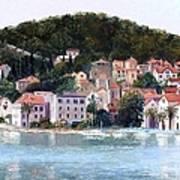 Split Harbour Croatia Art Print
