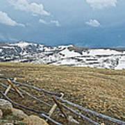 Split Rail Fence On East Side Of Trail Ridge Road In Rocky Mountain National Park-colorado Art Print