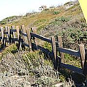 Split Rail Fence Yellow Print by Barbara Snyder