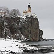 Split Rock Lighthouse Winter 19 Art Print