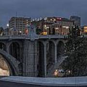 Spokane Cityscape Art Print by Michael Gass