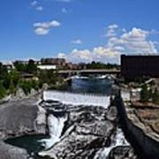 Spokane Falls And Riverfront Art Print