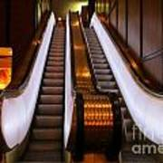 Spooky Escalator At The Brown Palace In Denver Art Print
