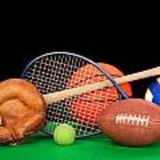 Sports Equipment Art Print by Joe Belanger