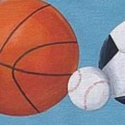 Sports Line Up Art Print