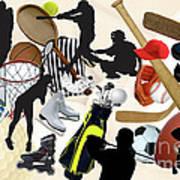 Sports Sports Sports Art Print by Susan  Lipschutz