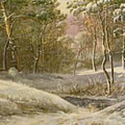 Sportsmen In A Winter Forest Art Print by Pieter Gerardus van