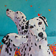 Spot Of Mischief Art Print by Jennifer Croom