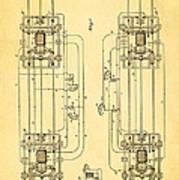 Sprague Electric Railway Patent Art 1885 Art Print