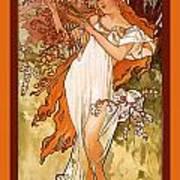 Spring Art Print by Alphonse Maria Mucha