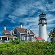 Spring At Cape Cod Light Art Print