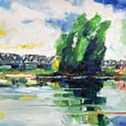Spring At River Elbe Near Doemitz Germany Art Print