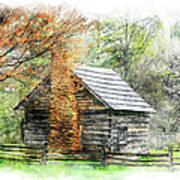 Spring Cabin II - Blue Ridge Parkway Art Print by Dan Carmichael