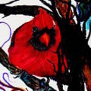 Spring Cardinal Art Print