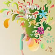Spring Floral Girl Illustration Art Print
