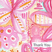 Spring Flowers Thank You Card Art Print by Linda Woods