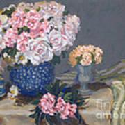 Spring In A Blue Vase Art Print