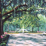 Spring In Forsythe Park Art Print