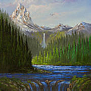 Spring In The Rockies Art Print by C Steele