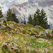 Spring On A Northern Slope Art Print