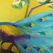 Spring Peacock Art Print by Gwen Carroll