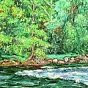 Spring Rapids On The New River Art Print