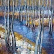 Spring River Thaw Art Print