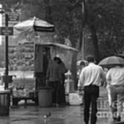 Spring Shower - Rainy Day In New York Art Print