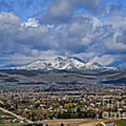 Spring Snow On Squaw Butte Art Print