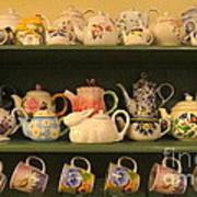 Spring Teapots  Art Print