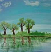 Spring Trees Art Print