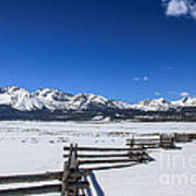 Spring View Of The Sawtooth Mountains Art Print