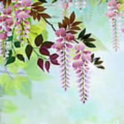 Spring Wisteria Art Print by Bedros Awak