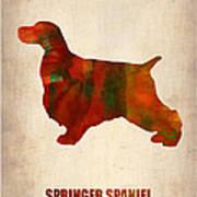 Springer Spaniel Poster Art Print by Naxart Studio
