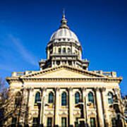 Springfield Illinois State Capitol Building Art Print by Paul Velgos