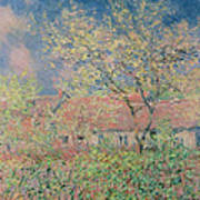 Springtime At Giverny Art Print by Claude Monet