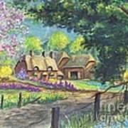 Springtime Cottage Art Print