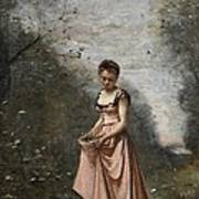 Springtime Of Life Print by Jean Baptiste Camille Corot