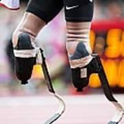 Sprinter At Start Of Paralympics 100m Art Print