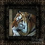 Sq Tiger Profile 6k X 6k Bboo Matt Art Print