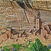 Square Tower House On Chapin Mesa Top Loop Road In Mesa Verde National Park-colorado Art Print