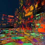Squarecity1 Art Print