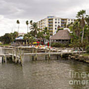 Squid Lips Restaurant  At The Eau Gallie Causeway Over The India Art Print