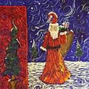 Squiggle Christmas Art Print