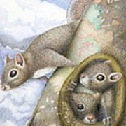 Squirrels Art Print by Wayne Hardee