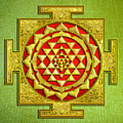 Sri Gold Yantra Art Print