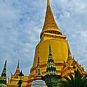 Sri Lanka Pagoda At Grand Palace Of Thailand In Bangkok Art Print